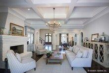 Architectural House Design - European Interior - Family Room Plan #929-855