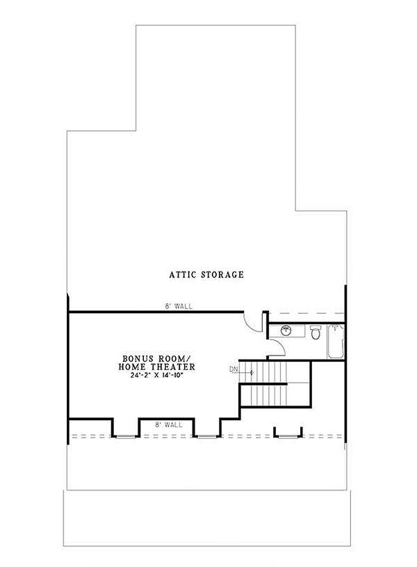 Country Floor Plan - Upper Floor Plan Plan #17-2181
