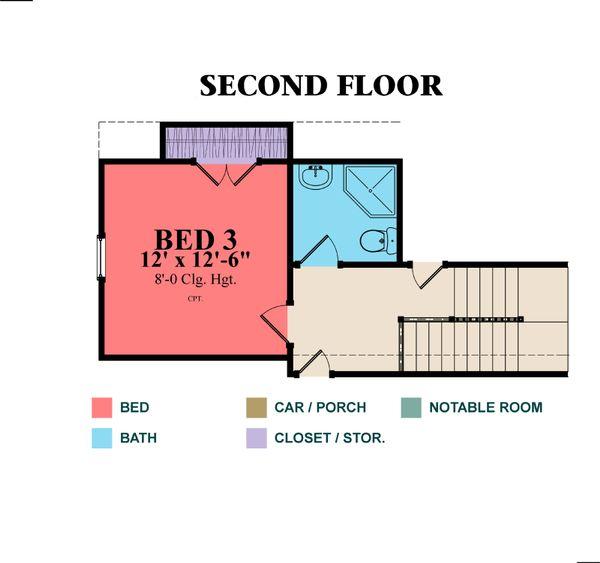 Country Floor Plan - Upper Floor Plan Plan #63-279