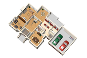 European Style House Plan - 4 Beds 2 Baths 3198 Sq/Ft Plan #25-4628 Floor Plan - Main Floor Plan