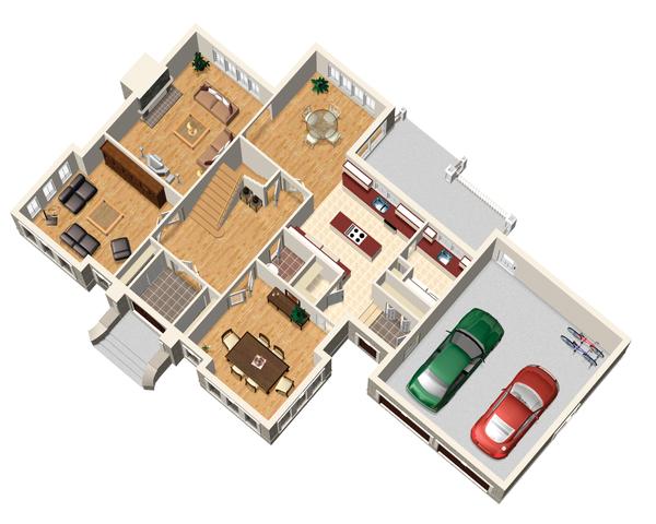 European Floor Plan - Main Floor Plan Plan #25-4628