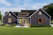 Country Style House Plan - 3 Beds 2 Baths 1936 Sq/Ft Plan #406-9659 Exterior - Rear Elevation