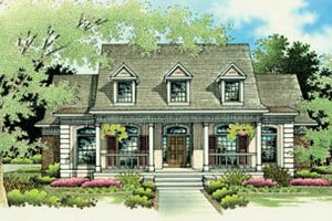 Architectural House Design - Traditional Exterior - Front Elevation Plan #45-139