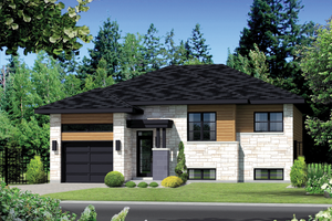Contemporary Exterior - Front Elevation Plan #25-4369