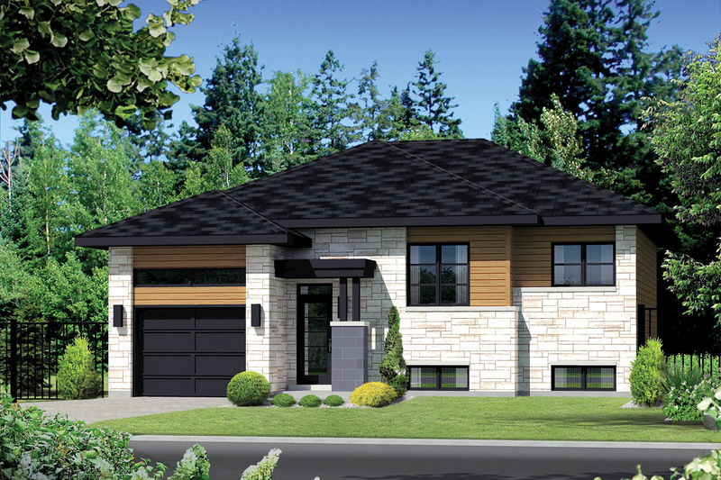 Contemporary Style House Plan - 2 Beds 1 Baths 998 Sq/Ft Plan #25-4369 Exterior - Front Elevation