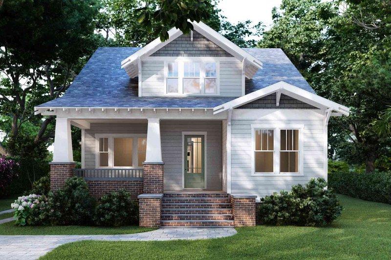 Dream House Plan - Craftsman Exterior - Front Elevation Plan #1079-1