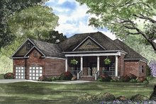 House Plan Design - Southern Exterior - Front Elevation Plan #17-1104
