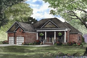 Southern Exterior - Front Elevation Plan #17-1104