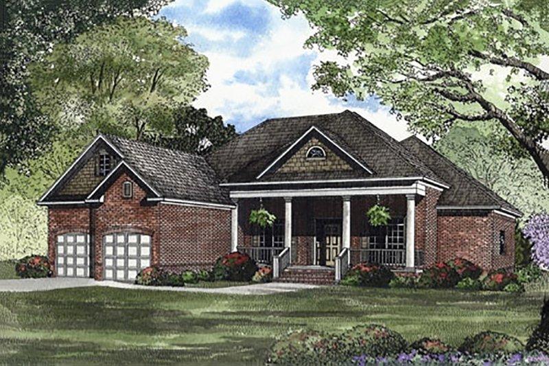 Southern Style House Plan - 3 Beds 2 Baths 2100 Sq/Ft Plan #17-1104