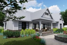 House Design - Farmhouse Exterior - Rear Elevation Plan #120-256