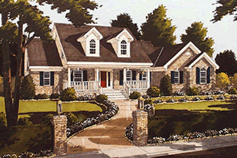 Traditional Exterior - Front Elevation Plan #46-217