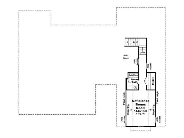 Dream House Plan - Upper Floor Plan