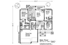 Craftsman Floor Plan - Main Floor Plan Plan #310-1320