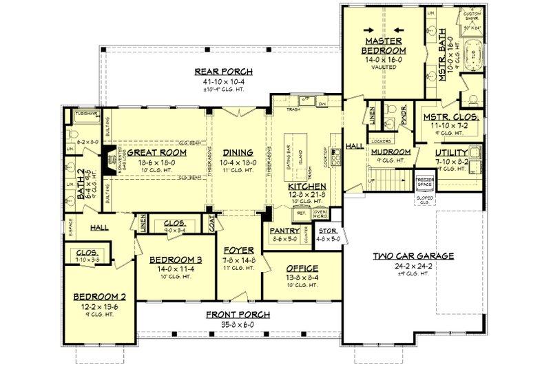Farmhouse Floor Plan - Main Floor Plan Plan #430-204