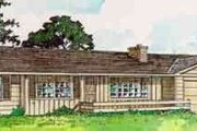 Ranch Style House Plan - 3 Beds 2 Baths 1460 Sq/Ft Plan #116-154 Exterior - Front Elevation