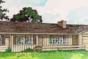 Ranch Exterior - Front Elevation Plan #116-154