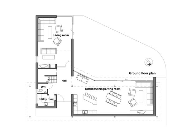 Modern Style House Plan - 4 Beds 3 Baths 2713 Sq/Ft Plan #520-1 Floor Plan - Main Floor Plan