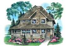 House Blueprint - Country Exterior - Front Elevation Plan #18-291