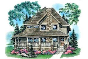Country Exterior - Front Elevation Plan #18-291