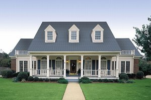 Southern Exterior - Front Elevation Plan #45-159