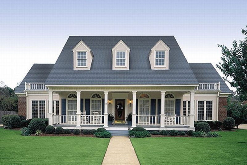 Southern Style House Plan - 4 Beds 3.5 Baths 3035 Sq/Ft Plan #45-159 Exterior - Front Elevation
