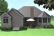 Traditional Style House Plan - 3 Beds 2 Baths 1697 Sq/Ft Plan #75-186 Exterior - Rear Elevation