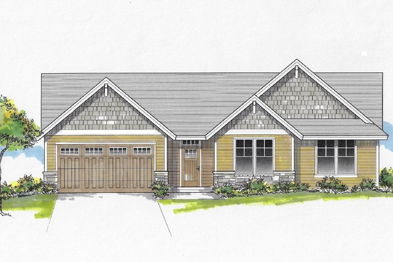 Home Plan - Craftsman Exterior - Front Elevation Plan #53-657