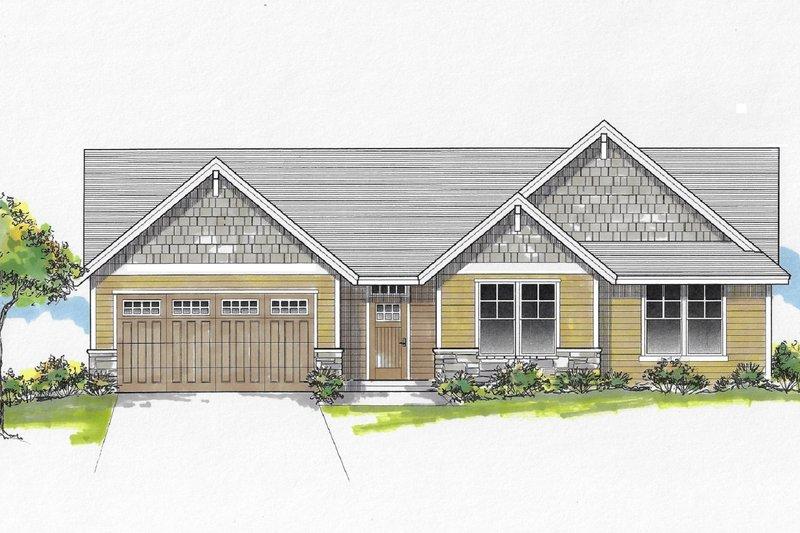 House Plan Design - Craftsman Exterior - Front Elevation Plan #53-657
