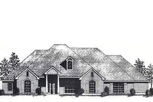 Colonial Exterior - Front Elevation Plan #310-823