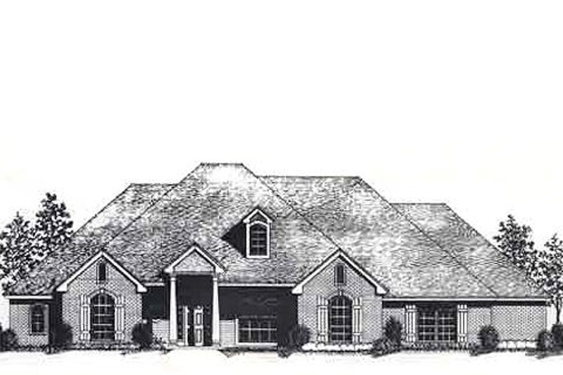 Colonial Style House Plan - 4 Beds 3 Baths 2493 Sq/Ft Plan #310-823 Exterior - Front Elevation