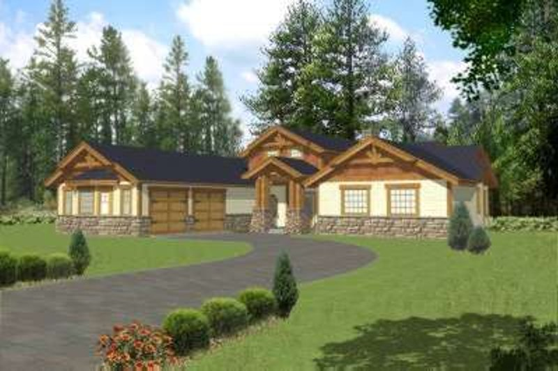 Traditional Exterior - Front Elevation Plan #117-464 - Houseplans.com
