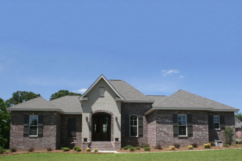 European Style House Plan - 3 Beds 2 Baths 1675 Sq/Ft Plan #430-67 Exterior - Other Elevation