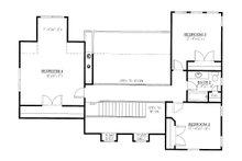 Craftsman Floor Plan - Upper Floor Plan Plan #437-119
