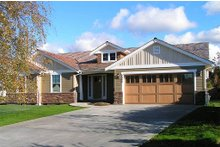 Dream House Plan - Front View - 1700 square foot Craftsman home