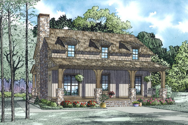 Country Style House Plan - 3 Beds 2.5 Baths 1712 Sq/Ft Plan #17-2521 Exterior - Other Elevation