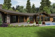 Contemporary Style House Plan - 3 Beds 2.5 Baths 3278 Sq/Ft Plan #48-699 Exterior - Rear Elevation