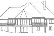 European Style House Plan - 3 Beds 3 Baths 2848 Sq/Ft Plan #52-227 Exterior - Rear Elevation