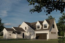 House Plan Design - European Exterior - Rear Elevation Plan #923-186