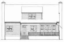 House Blueprint - Colonial Exterior - Rear Elevation Plan #72-327