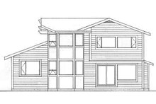House Plan Design - Modern Exterior - Rear Elevation Plan #126-220