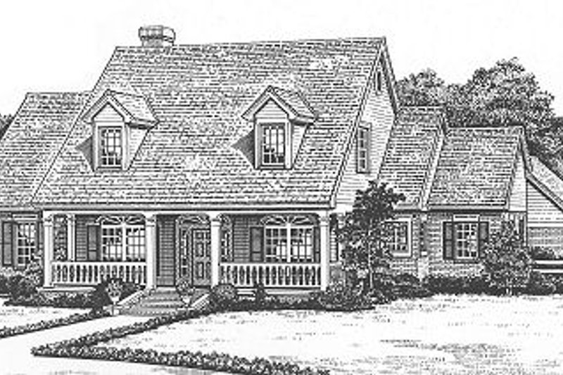 Farmhouse Style House Plan - 4 Beds 4 Baths 3105 Sq/Ft Plan #310-625 Exterior - Front Elevation