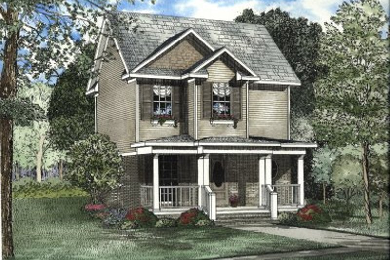 Home Plan - Traditional Exterior - Front Elevation Plan #17-2044
