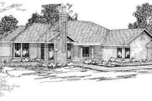 Traditional Exterior - Front Elevation Plan #124-190