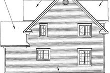 Dream House Plan - Victorian Exterior - Rear Elevation Plan #23-2059