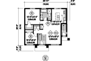 Contemporary Style House Plan - 3 Beds 2 Baths 2022 Sq/Ft Plan #25-4400 Floor Plan - Main Floor