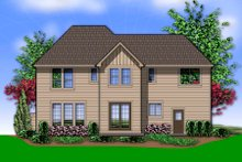 Dream House Plan - Rear View - 2600 square foot Traditional Home