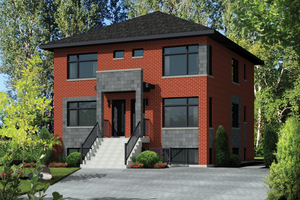 Contemporary Exterior - Front Elevation Plan #25-4557