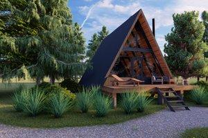 Cabin Exterior - Front Elevation Plan #549-30