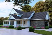 Farmhouse Style House Plan - 4 Beds 2.5 Baths 2268 Sq/Ft Plan #923-103 Exterior - Other Elevation