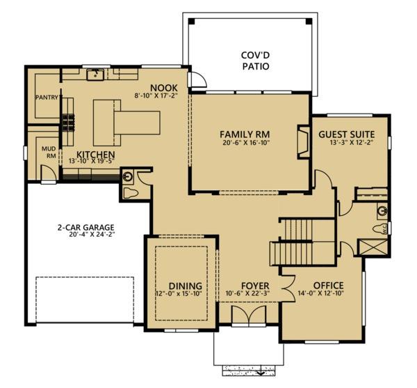 Country Floor Plan - Main Floor Plan #1066-42